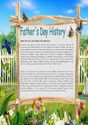 English Worksheet: Father´s Day History