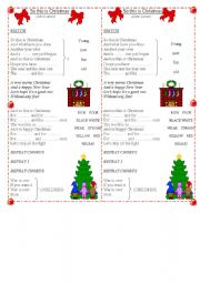 English Worksheet: So This is Christmas song by John Lennon