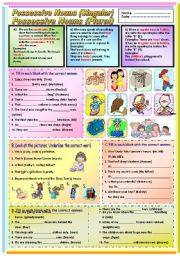 English Worksheet: Possessive Nouns (Singular and Plural)
