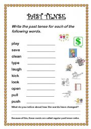 PAST SIMPLE REGULAR VERBS worksheet   Free ESL printable worksheets in addition present tense verbs worksheets besides verb tense practice worksheets furthermore English Exercises  Past Simple   Regular Verbs moreover  likewise Worksheet   Irregular Verbs Circling P Beginner Past Tense moreover  furthermore Regular and Irregular Verbs Past Tense additionally  furthermore Regular Verbs ESL Printable Worksheets and Exercises in addition Irregular Past Tense Verbs Worksheet   Homedressage besides regular past tense verbs worksheets in addition past tense worksheets for kids as well irregular verbs in past tense worksheets   Diigo Groups besides Regular Past tense verbs   ESL worksheet by hiddledave as well simple past worksheets. on regular verbs past tense worksheet