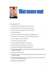 English Worksheets: What women want - Movie Activity