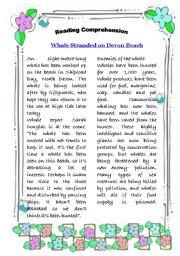 English Worksheets: Readong Comp.