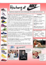 English Worksheet: History of NIKE