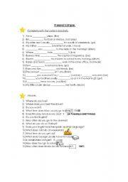 English worksheet: Present Simple