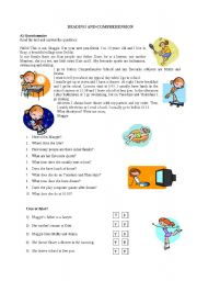 English Worksheets: A letter - Reading and comprehension 2