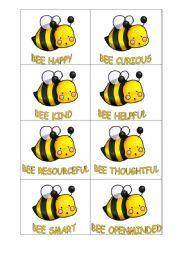 English Worksheet: motivational bees :)