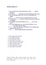 English Worksheets: More Action Idioms!!!
