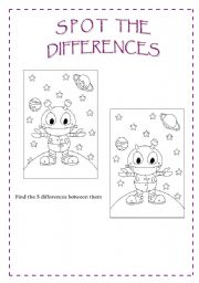 English Worksheets: Spot the differences 3/4