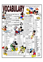 RECYCLING VOCABULARY - TOPIC: INDIVIDUAL - TEAM SPORTS AND RECREATION. Elementary and up.