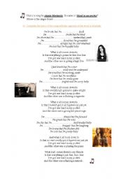 English Worksheets: Hand in my pocket by Alanis Morissette