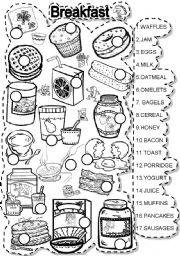 English Worksheet: BREAKFAST MATCH