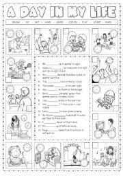 English Worksheet: Daily Routines