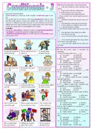 English Worksheet: Conditionals - 3 (Grammar Guide and Exercises)