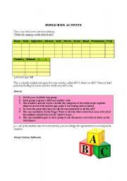 English Worksheets: Funlicious simply activity