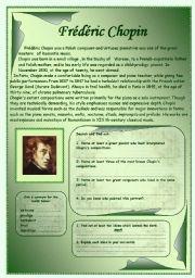 English Worksheets: Fr. Chopin