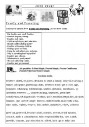 Worksheets Parenting Worksheets english worksheets the family page 199 talk 2 and parenting