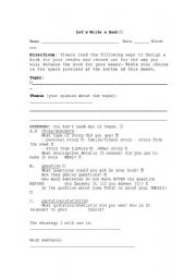 English worksheet: Let´s Write a Hook
