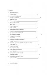 English Worksheets: indirect question