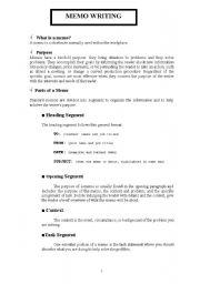 English Worksheets: Memo writing