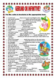 English Worksheets: Gerund or Infinitive? - No. 4