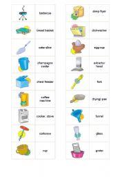 English teaching worksheets: Kitchen utensils/