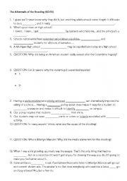 English Worksheet: Bowling for Columbine Listening worksheet