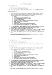 English Worksheet: another brick in the wall video and discussion