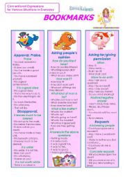 English Worksheets: Bookmarks (Part 4)