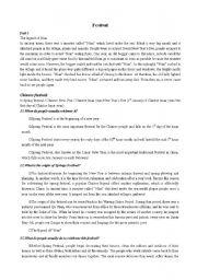 English Worksheets: festivals