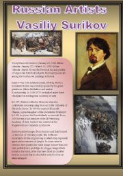 English Worksheets: Russian Artists-Vasiliy Surikov
