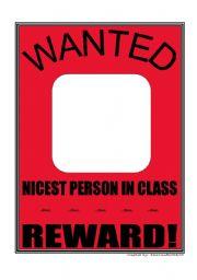 English Worksheets: Wanted!