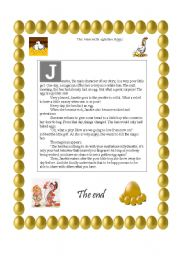 English Worksheets: The Hen with Golden Eggs