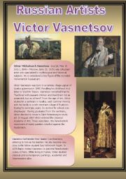 English Worksheet: Russian Artists - Victor Vasnetsov