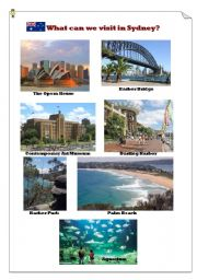 English Worksheet: What can we visit in Sydney?(1)