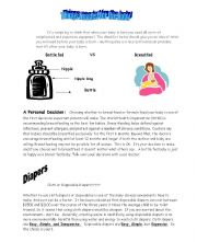 English worksheet: Baby - Things you need or want