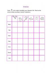 English Worksheets: likes and dislkes