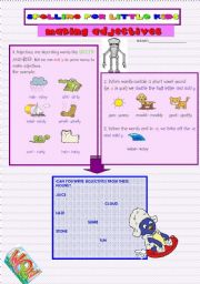 English Worksheets: SPELLING FOR LITTLE KIDS 2:MAKING ADJECTIVES ADDING -Y