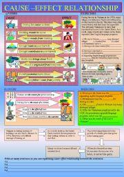 English Worksheet: Cause Effect relationship