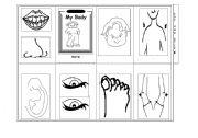 English Worksheets: Body minibook