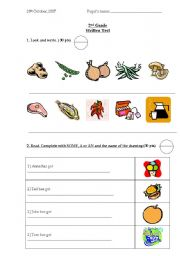 English Worksheet: Food - Some&Any