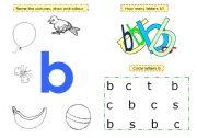 English Worksheets: Letter b
