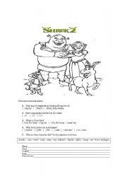 English Worksheets: shrek 2 movie activities for kids