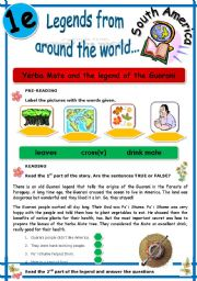 English Worksheets: LEGENDS FROM AROUND THE WORLD SERIES (1e)