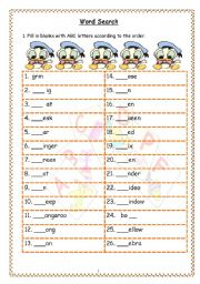 English Worksheets: ABC Words