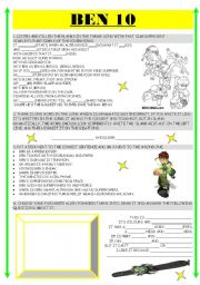 BEN 10 - the kids´ superhero - ESL worksheet by anitarobi