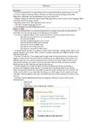 English Worksheets: WRITING LIST