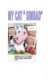 English Worksheets: my cat simbad