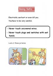 English Worksheets: being safe