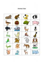 English Worksheets: Animal War
