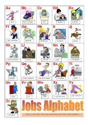 English Worksheet: Jobs alphabet